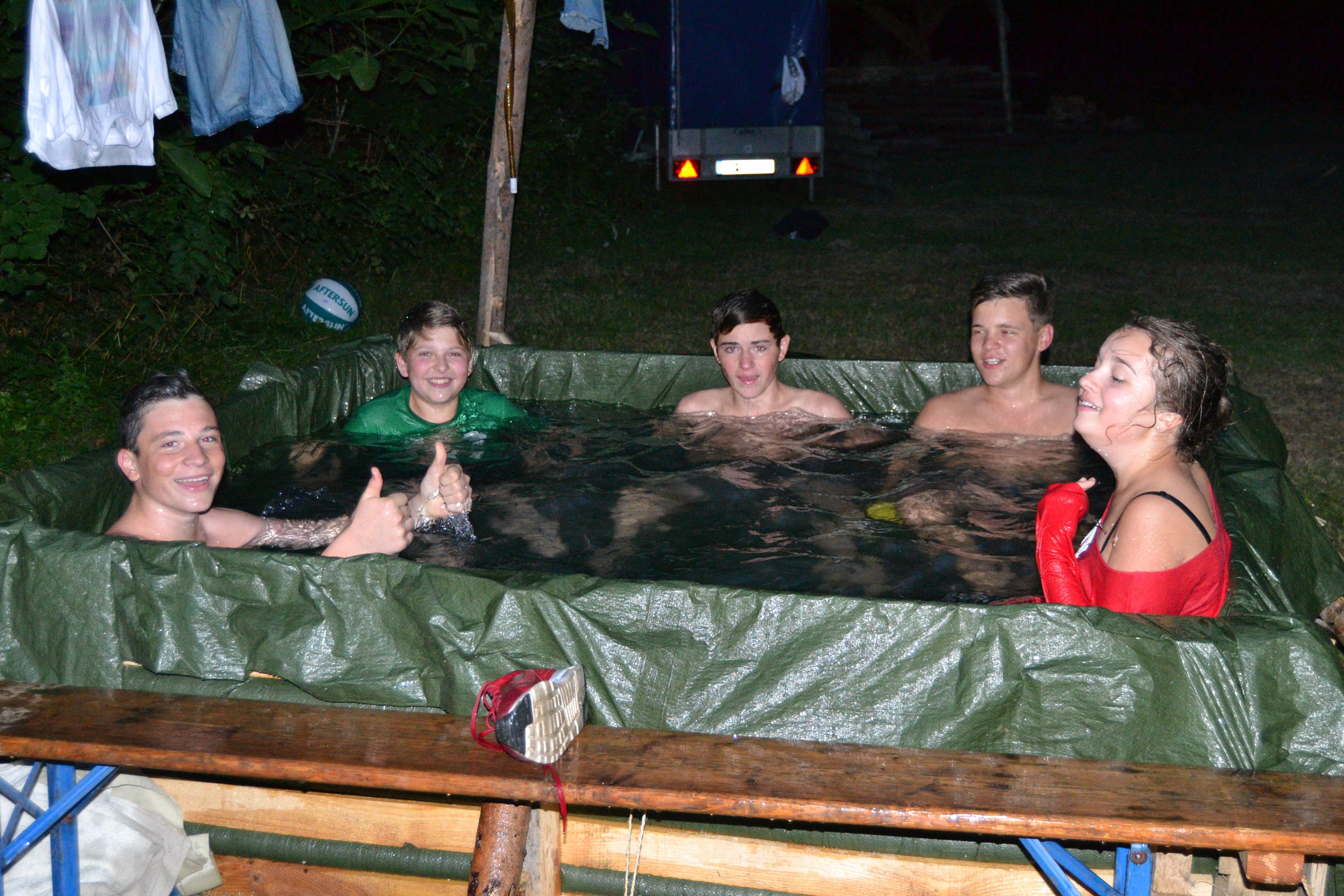 Der Pool wird genutzt