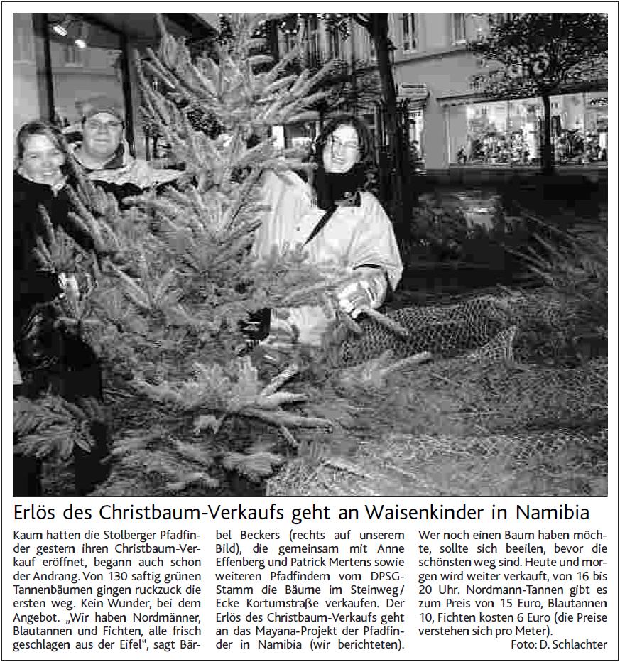 Namibia 2005 - Weihnachtsbaumverkauf