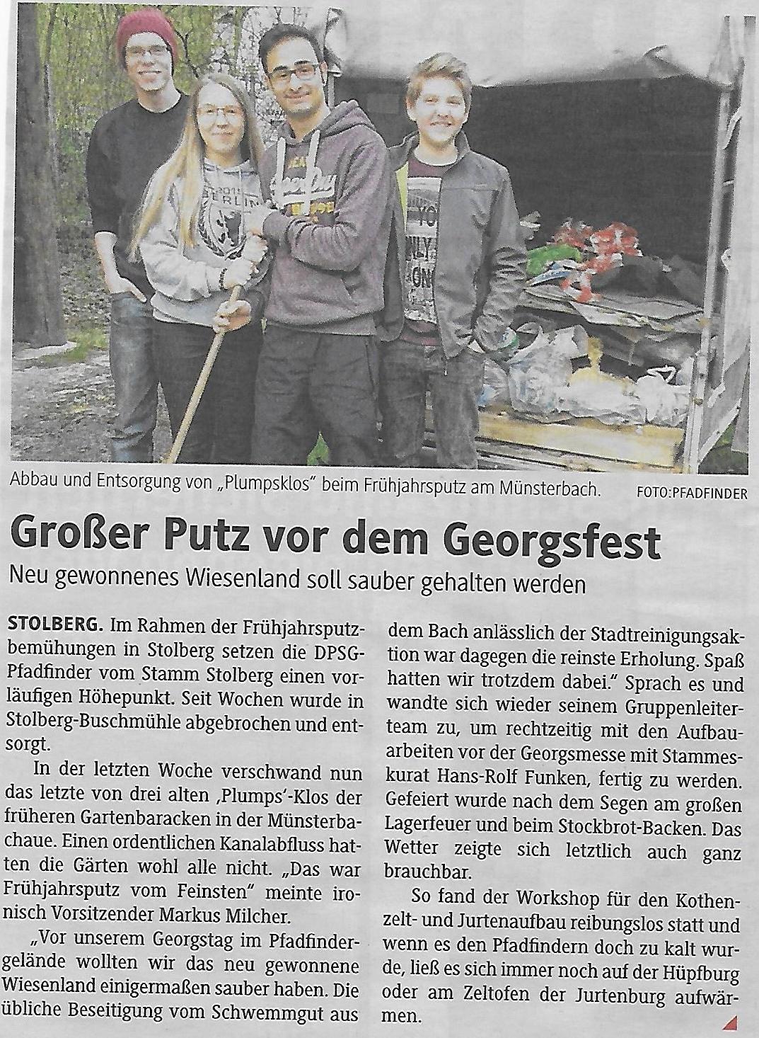 Zeitung Georgstag 2016