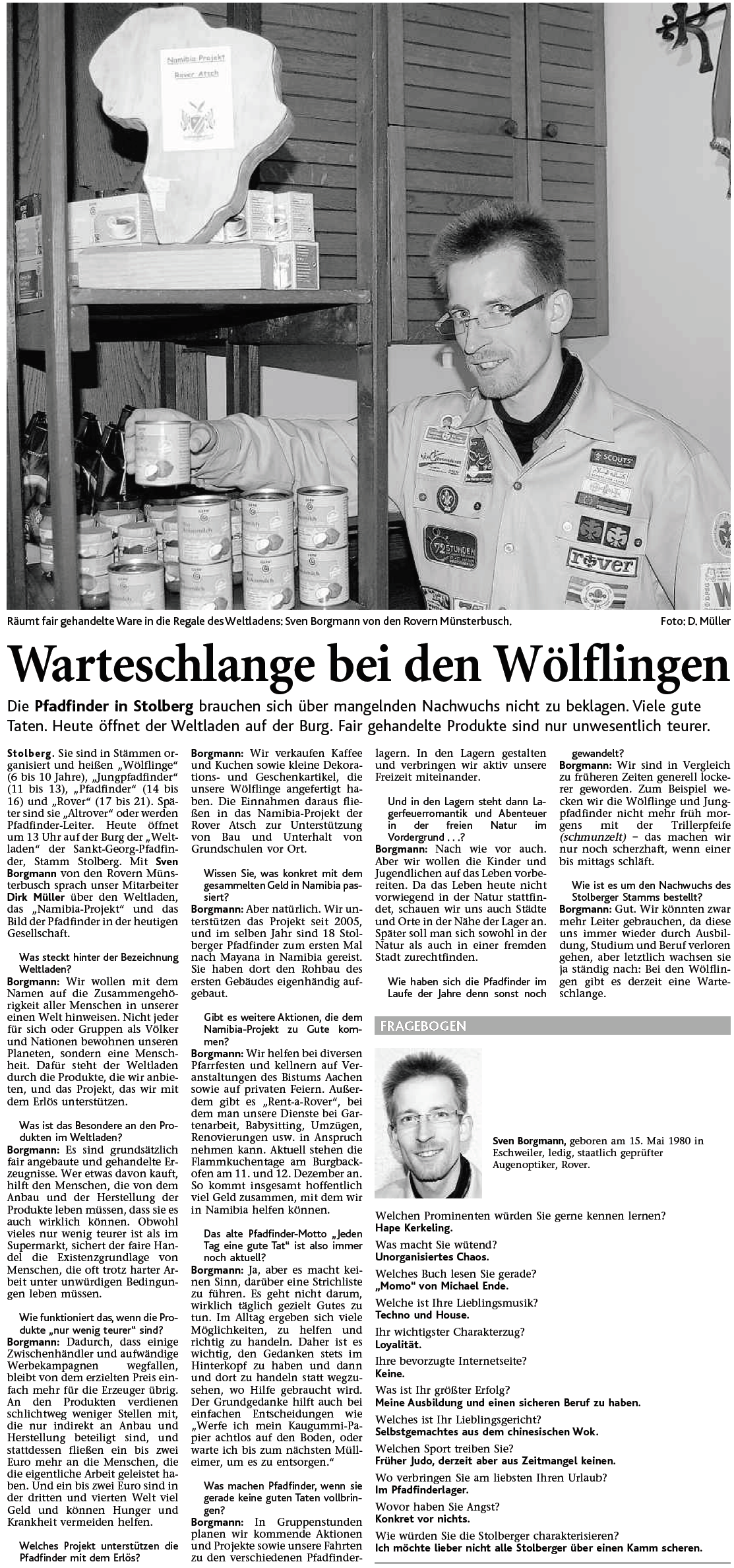 Weltladen - Interview Sven Borgmann