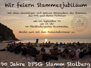 Stammesjubiläum - 90 Jahre Stamm Stolberg @ Pfadfindergarten Buschmühle